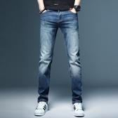2020夏季薄款彈力淺色男士牛仔褲直筒寬鬆潮牌修身長褲子韓版潮流「艾瑞斯居家生活」