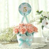 新款歐式結婚禮花盆喜糖盒子  創意結婚喜糖果袋包裝盒 喜糖紙盒第七公社