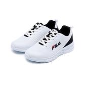 FILA 女款黑白慢跑鞋-NO.5J916U100