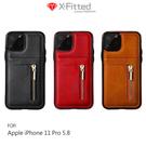 【愛瘋潮】X-Fitted Apple iPhone 11 Pro(5.8吋) X-BIZ 復古皮紋保護殼 手機殼 可插卡