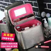 化妝箱 大容量多功能化妝箱手提簡約便攜韓版可愛 LQ6078『小美日記』