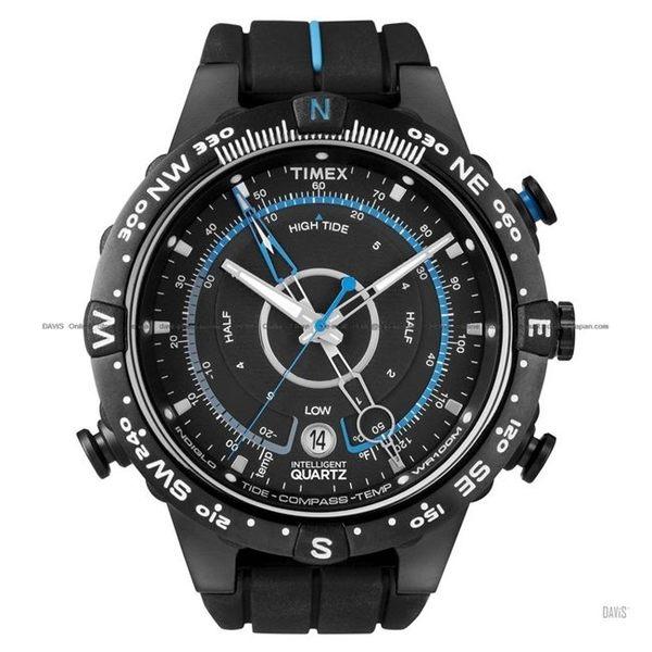 【TIMEX 】天美時 Intelligent 智慧系列遠征羅盤極限任務腕錶 (黑面/黑帶 TXT49859)