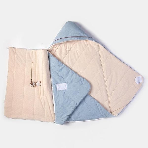 兒童抱被 嬰兒抱被秋冬加厚睡袋防驚跳純棉新生兒包被春季抱毯寶寶初生用品 果果生活館