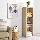書櫃 收納 堆疊 置物櫃【收納屋】簡約加高三空櫃-淺橡木色& DIY組合傢俱