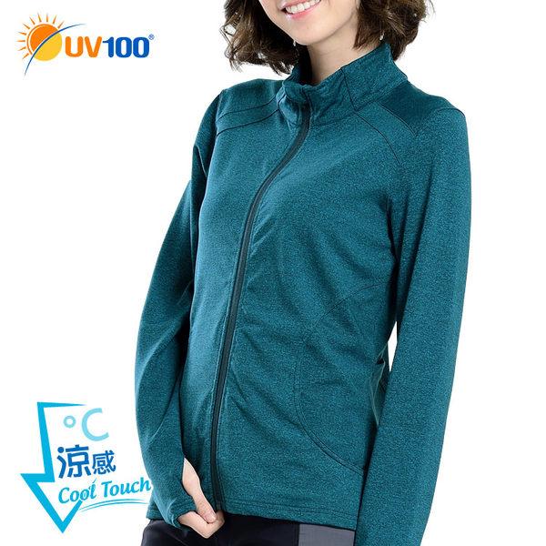 快速出貨 UV100 防曬 抗UV-涼感花紗立領外套-機能口袋