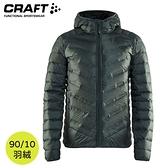 【CRAFT 瑞典 男 輕量羽絨連帽外套《墨綠》】1908006/羽絨衣/保暖外套/羽絨外套