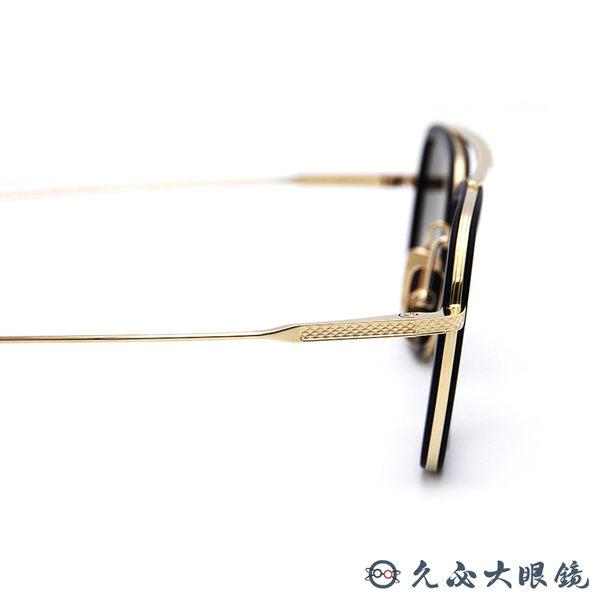 【預付訂金賣場】DITA 太陽眼鏡 復仇者聯盟 鋼鐵人墨鏡 鈦 雙槓 FLIGHT 006 黑-金 久必大眼鏡