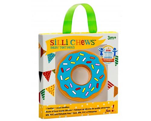 【愛吾兒】美國 SiLLi CHeWS 藍色甜甜圈咬牙器  固齒器 美國設計 3個月以上適用