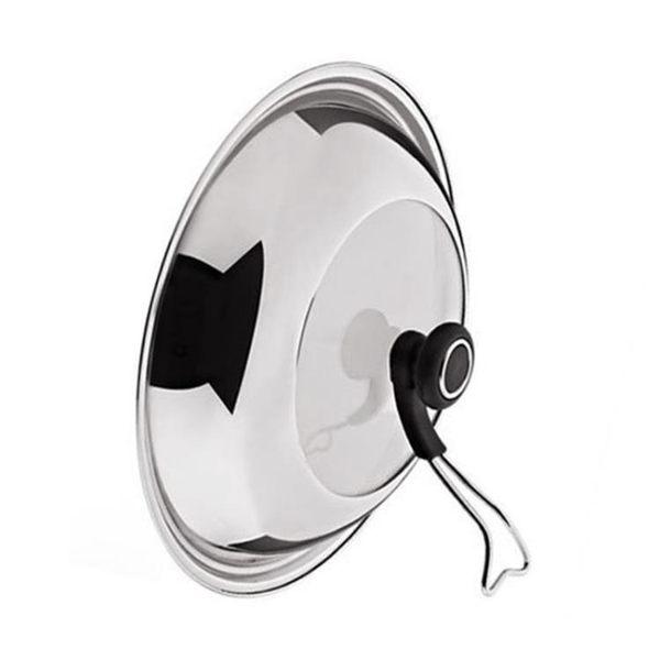 可立式鍋蓋可掛炒鍋鍋具通用鍋蓋不銹鋼鑲玻璃立蓋防熱防燙手
