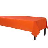 塑膠長桌巾-香吉士橘