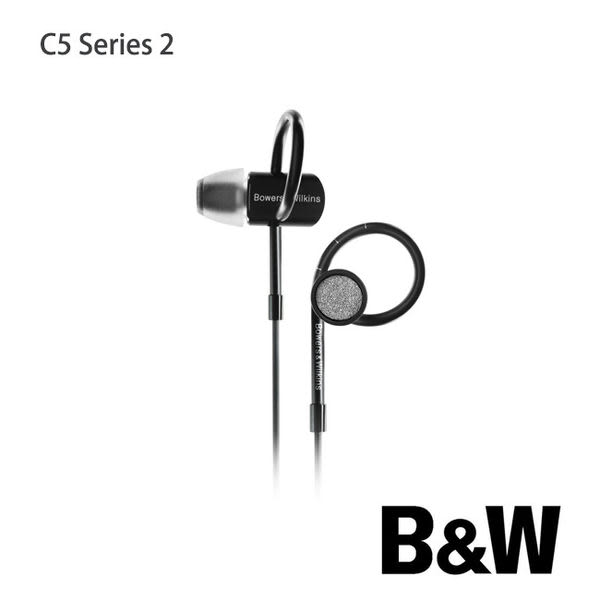 【A Shop】英國 B&W Bowers & Wilkins C5 S2黑色耳道式隔音耳機 For iPhone 6S/6SPLUS/iPad mini4/iPad Air2/iPad Pro
