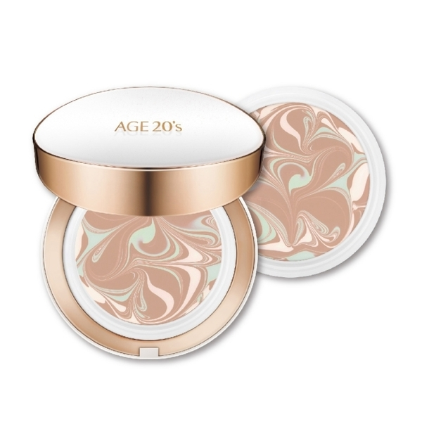 AGE20S最新款瓷透肌聚焦爆水粉餅-長效持妝型[自然色](1空殻+2粉蕊)