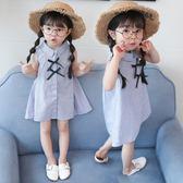兒童連身裙 女童襯衫裙女寶寶洋氣連身裙嬰幼兒公主裙子小孩韓版【韓國時尚週】