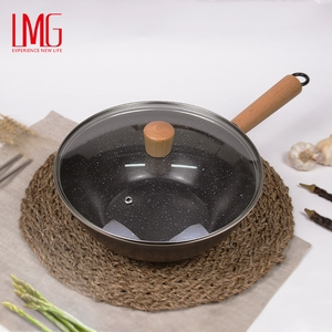 LMG-熟鐵萬用深炒鍋-24CM(含蓋)