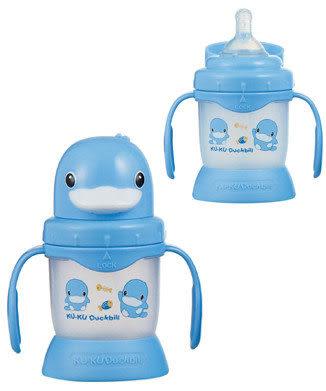 【奇買親子購物網】酷咕鴨KU.KU.- 第1階段奶嘴訓練杯3個月以上適用