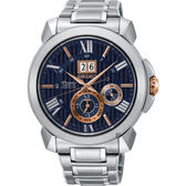 廣告款 SEIKO精工 Premier 人動電能萬年曆手錶-42.9mm 7D56-0AE0A(SNP153J1)