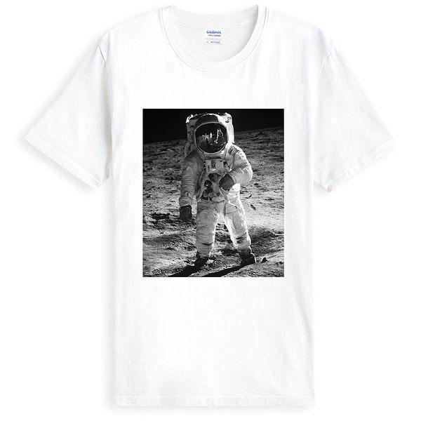 Armstrong短袖T恤-白色 阿姆斯壯月球太空阿波羅相片照片