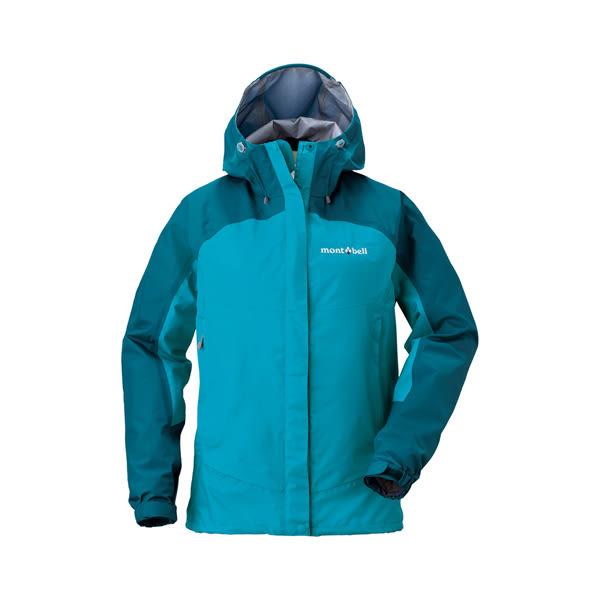 [Mont-Bell] (女) Thunder Pass Jacket 防水透氣風雨衣 孔雀藍/松石藍 (1128345-PETQ)