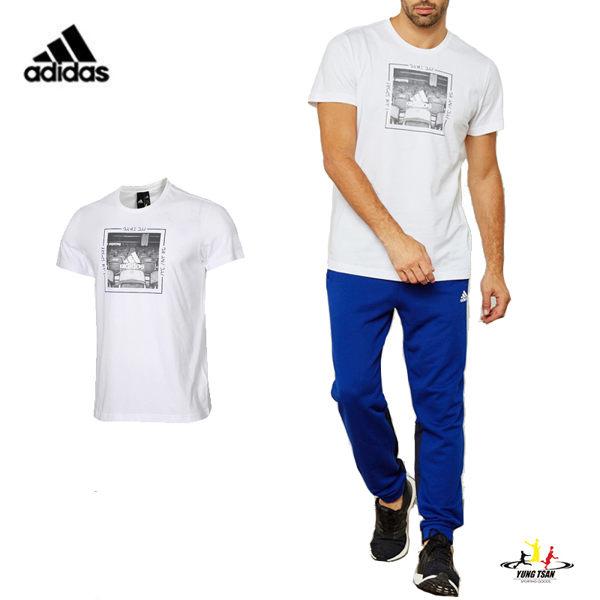 Adidas Category 男 白 短袖 運動上衣 短T 棉T 短袖 愛迪達 Tee 慢跑 健身 上衣 DI0299