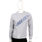 KENZO 灰色裂紋圖騰棉質長袖T恤 1620632-06