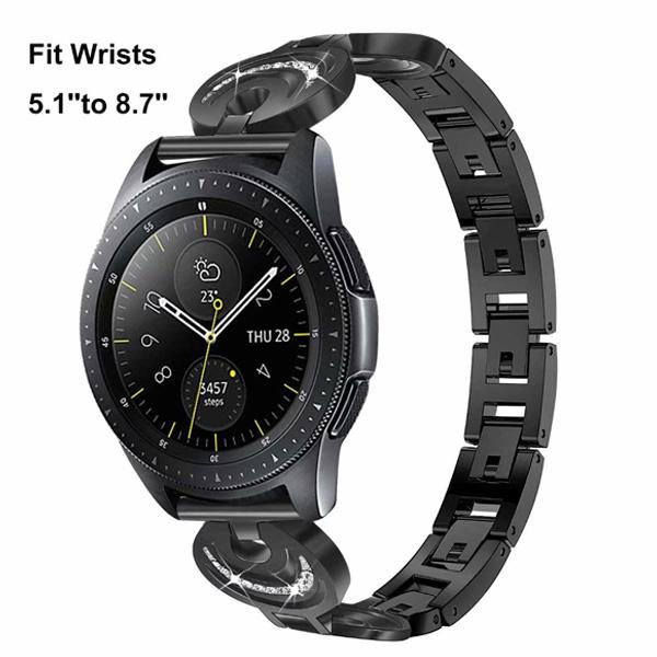 三星 Galaxy Watch Active 日月星錶帶 交叉鑲鑽錶帶 三星錶帶 金屬錶帶 鑲鑽錶帶