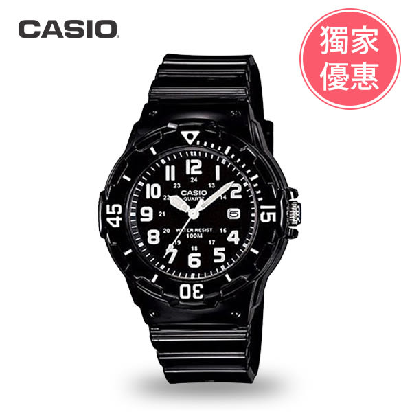 CASIO卡西歐 LRW-200H-1B學生錶