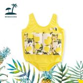 兒童浮力泳衣背心嬰幼兒寶寶泳衣連體漂浮男童女童學游泳衣救生衣 露露日記