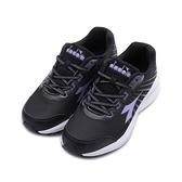 DIADORA ETPU專業輕量跑鞋 黑紫 DA31629 女鞋