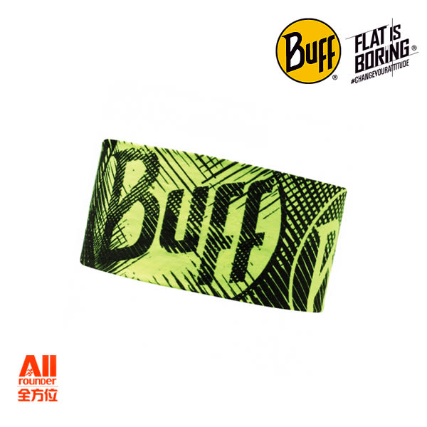 【Buff】成人款 西班牙運動魔術吸汗透氣COOLMAX 抗UV頭帶 -  螢光BUFF(108900)【全方位運動戶外館】