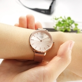 ALBA / VJ21-X168K.AH8760X1 / 簡約時尚 流沙紋理 藍寶石水晶玻璃 米蘭編織不鏽鋼手錶 鍍玫瑰金 32mm