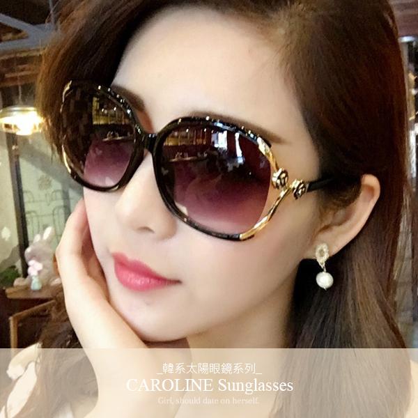 《Caroline》年度最新網紅款潮流行時尚百搭抗UV太陽眼鏡 71621