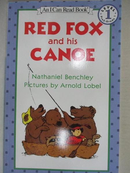 【書寶二手書T1/原文小說_HM5】Red Fox and His Canoe_Benchley, Nathaniel