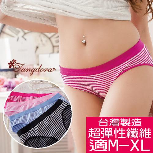 【 唐朵拉 】台灣製Free 條紋海洋風 舒適女褲超彈性適穿M-XL(806)