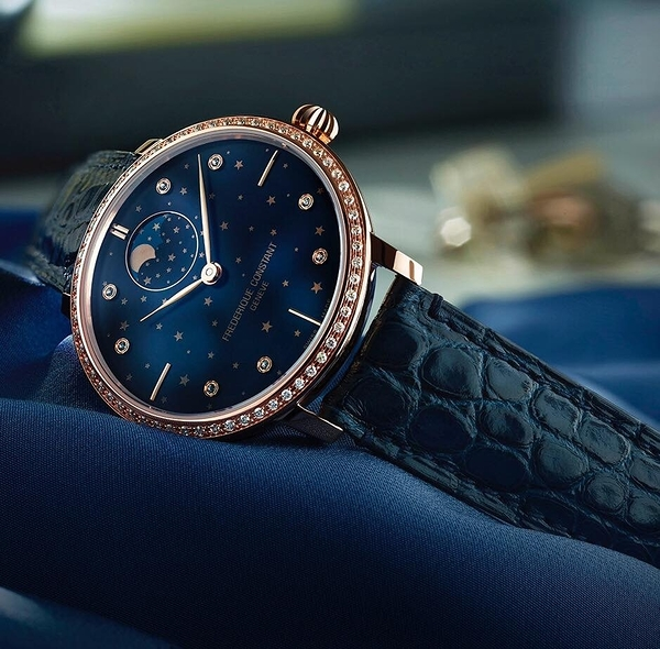 康斯登 CONSTANT 半月而生特殊自製機芯超薄月相星腕錶 FC-701NSD3SD4