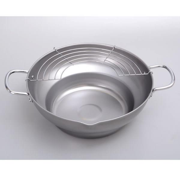 日本製【PEARL】鐵製油炸鍋附網 28cm/H-8825