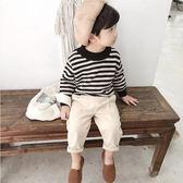 毛衣 男童冬裝毛衣1-3歲正韓寶寶長袖線衫小童條紋加厚針織衫潮