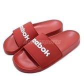 Reebok 拖鞋 Classic Slide 紅 白 男鞋 女鞋 基本款 復古 大LOGO 舒適好穿【ACS】 EH0350