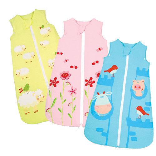【奇買親子購物網】拉孚兒 naforye 舒棉 2 IN 1嬰兒睡袍抱袋 (藍/粉/黃)-前開拉鍊款