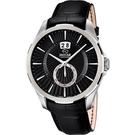 JAGUAR ACAMAR 雅仕小秒針手錶-黑/44mm J682/3