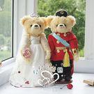 娃娃屋樂園~紅軍裝.藤蔓款-歐風婚紗對熊...