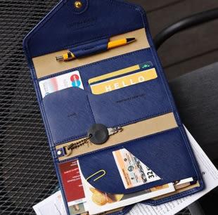 ►全區69折►新韓國PU護照包 旅行多功能三折護照證件夾 防消磁皮面錢包 長夾 皮夾【D1039】