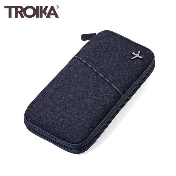 耀您館★德國TROIKA防盜護照包TRV20/GY(深灰)防RFID錢包防感應卡夾護照包旅遊包隨身包証件包旅行包