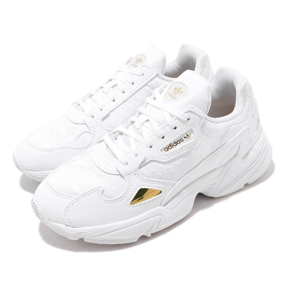【五折特賣】adidas 休閒鞋 Falcon W 白 金 老爹鞋 女鞋 小白鞋 【ACS】 EG5161