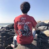 現貨男士短袖t恤 男式夏季新款休閒男裝純棉圓領半袖衫字母體恤服裝短袖POLO衫