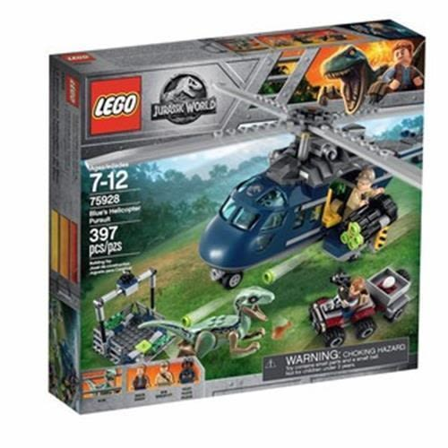 LEGO 樂高 Jurassic World Blue s Helicopter Pursuit 75928 397 pieces