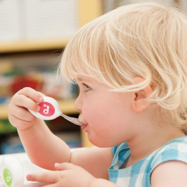 英國 Doddl 兒童學習餐具三件組 人體工學餐具 (綠色 / 粉色 / 藍色) 0101 好娃娃