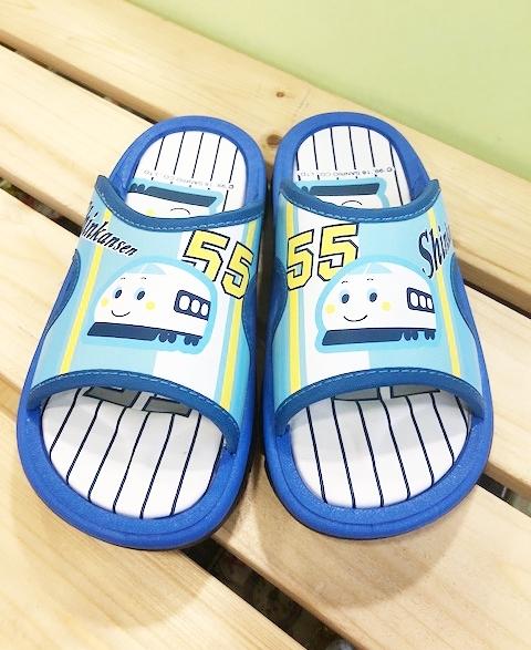 【震撼精品百貨】Shin Kan Sen 新幹線~台灣製正版兒童拖鞋-水藍色(15~22號)#16861