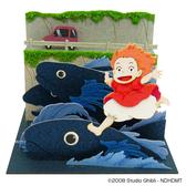【拼圖總動員 PUZZLE STORY】海上奔跑的波妞  紙模型/立體紙雕/SANKEI/宮崎駿/崖上的波妞