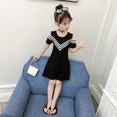 女童連衣裙2018新款兒童裝洋氣夏裝中大童夏季時髦韓版露肩洋裝 EY3732 『優童屋』