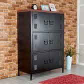 Homelike 哈帝鋼製六門置物櫃